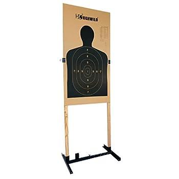 Highwild Adjustable Target Stand Base for Paper Shooting Targets Cardboard Silhouette - H Shape - USPSA/IPSC - IDPA Practice - Upgraded Version  1 Pack