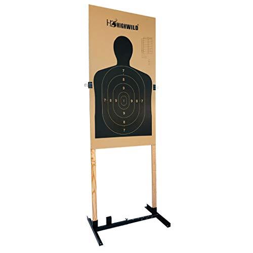 Highwild Adjustable Target Stand Base for Paper Shooting Targets Cardboard Silhouette - H Shape - USPSA/IPSC - IDPA Practice - Upgraded Version (1 Pack)