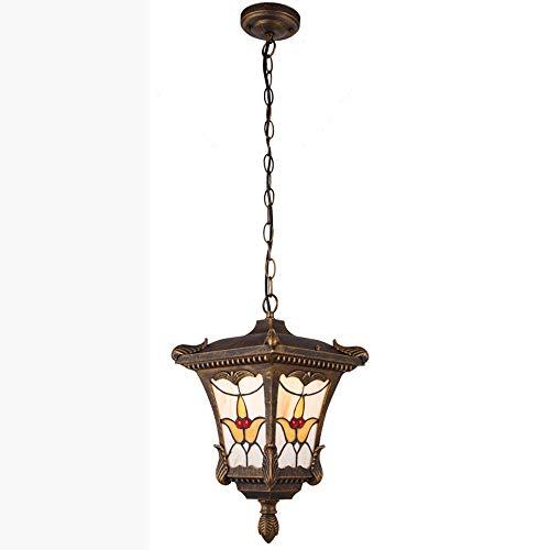 E27 Vintage waterdichte kroonluchter, industriële LED hanglamp decoratieve glazen plafondlamp moderne woonkamer tafel aluminium hanglamp outdoor creatieve studie gang balkon plafondlamp