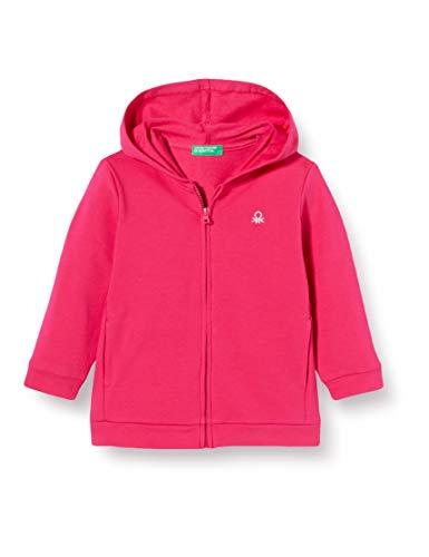 United Colors of Benetton Felpa Zip Chaqueta Punto, Rosa (Pink Peacock 2l3), 80/86 (Talla del Fabricante: 1Y) para Bebés