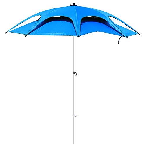 NMDD Paraguas de Pesca Paraguas al Aire Libre Plegable Inclinación Jardín Playa Paraguas de Pesca Protección UV A Prueba de Lluvia Azul Espesado
