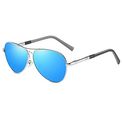 BEIAKE Hombres Polarizados Gafas De Sol Gafas Metálicas De Memoria Anti-UV Protección De Los Ojos Sombreado Gafas para Ciclismo, Viajes, Playa, Unidad,4