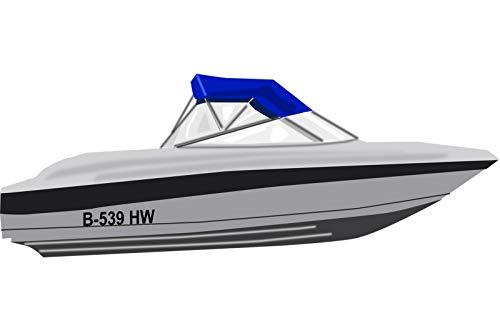Shirtstown Bootskennzeichen Bootsnummer Bootbeschriftung, Nummer, selbsklebende Folie, vers. Größen für Schlauchboote, Angelboot, Aufkleber SK Kennzeichen, 2 Kennzeichen, Höhe 10cm