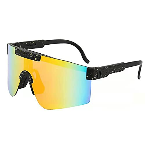 Dswe Gafas de Ciclismo de Montura Grande Gafas de Sol de Bicicleta de Moda Gafas de Sol UV400 Deportes al Aire Libre Gafas portátiles Gafas
