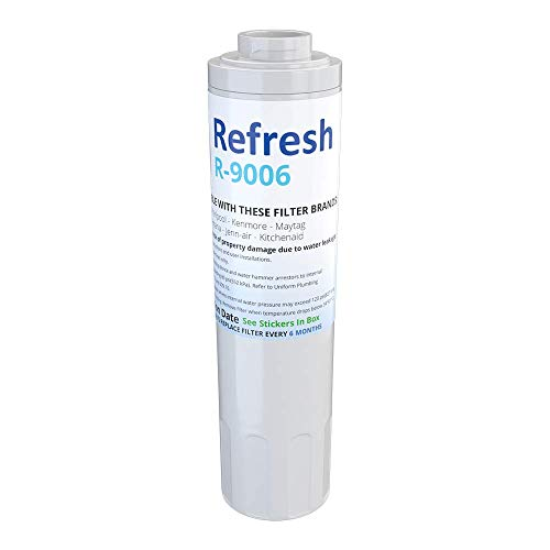 Refresh R-9006-S Replacement Refrigerator Water Filter for Maytag PUR FILTER 4, Whirlpool EDR4RXD1, Everydrop Filter 4, UKF8001AXX-750, 4396395, PuriClean II and Kenmore 469006, 46 9006, 9006 (1 Pack)