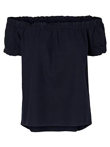 Vero Moda NOS Damen Bluse VMANNA MILO OFF SHOULDER TOP NOOS Blau (Night Sky), 34 (Herstellergröße: XS)
