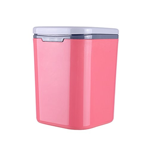 Calcifer® 2 litres Plastique universel Voyage Portable de voiture Poubelle à suspendre, 5.3 x 5.3 x 17,8 cm