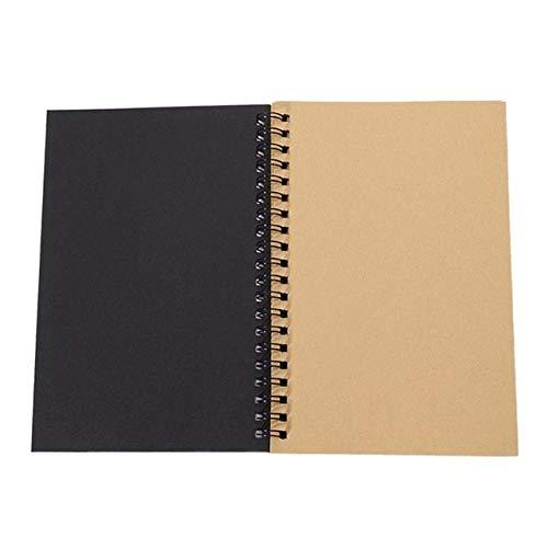 Bobina Espiral Retro Cuaderno De Bocetos Cuaderno De Papel Kraft Cuaderno De Bocetos Pintura Diario Diario Bloc De Notas De Estudiante Libro Bloc De Notas De Notas