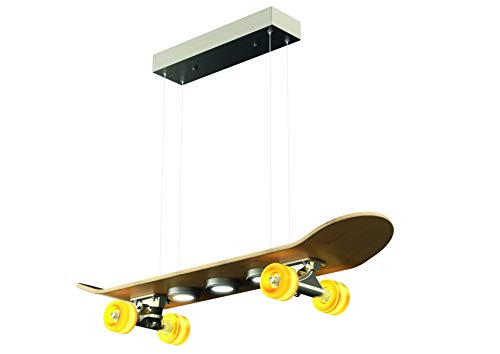 Evotec LIGHT CRUISER LED Skateboard Pendelleuchte 7-flg / 15W / 2700K / 1515 Lumen, Holz, 15 W, Transparent, Small