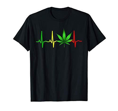 Música reggae Marihuana Rastafari Weed Camiseta