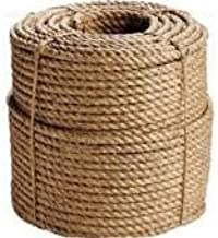 EVERSTRONG 100% Manila Twisted Rope in 600 Ft Spool x Various Sizes, 1/4