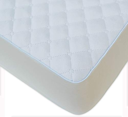 BlueSnail Super Soft Stretchy Quilted Fitted Crib Bed Sheet for Standard Crib and Toddler Mattress (White)