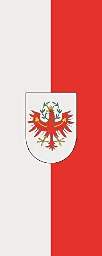 U24 Fahne Flagge Tirol im Hochformat Premiumqualität 80 x 200 cm