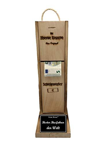 * Bester Busfahrer der Welt - Eiserne Reserve ® Scheinwerfer - Geldautomat - Geldgeschenk - Die lustige Geschenkidee - Geld verschenken