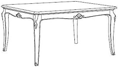 dafnedesign. com – Mesa rectangular extensible de estar y comedor de comedor, color madera