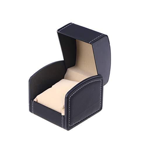 ULTECHNOVO Caja organizadora para reloj de viaje para joyas, para hombre, pulsera, collar, color negro
