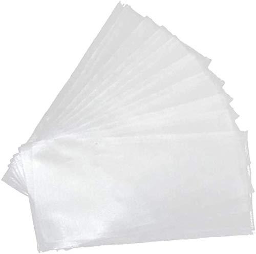 Namvo 100 bolsas de pesca de carpa, PVA, solubles en agua, cebo sólido, aparejo de boilie y pesca de carpas, accesorios de aparejos de pesca (5 x 10 cm)