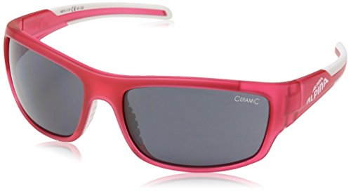 Alpina Sonnenbrille Amition TESTIDO Sportbrille, Berry/Matt White, One Size