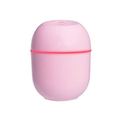 Jroyseter Humidificador portátil Mini USB de Gran Capacidad de 220 ml Fresco Mudo silencioso Fina Niebla del difusor del Aroma de Escritorio humidificador de Aire para Ministerio Coches (Pink)
