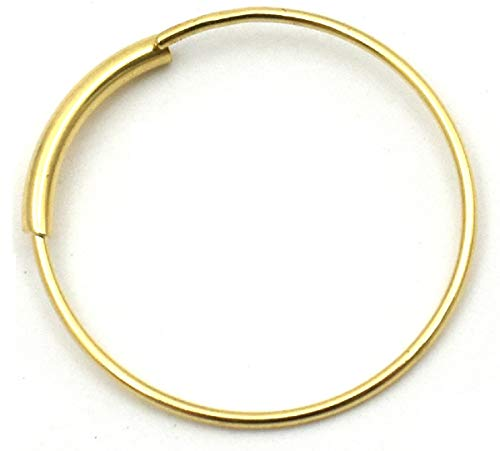 PLATA 日本製 K18 ゴールド 華奢 ピアス フープピアス 直径10mm 上品 シンプル シングルピアス 片耳1個 レディース メンズ ギフトボックス 付属 プレゼント クリスマスプレゼント ギフト 贈り物 喜ばれるギフト