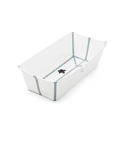 STOKKE Flexi Bath Extragrande - Bañera de bebé plegable para ducha │ Piscina portátil antideslizante para niños hasta los 6 años - Color: XL Blanco