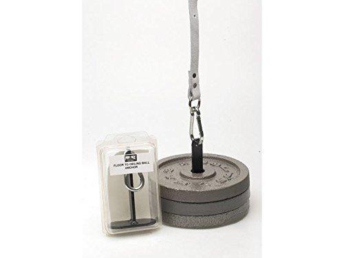 """Pro Box Kugel-Ankerplatte """"Vom Boden zur Decke"""" mit Haken zum Aufhängen. Für das Doppelend-Ballboxen als Home-Fitness."""