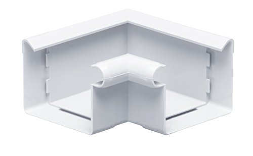 INEFA Rinnenwinkel 90°, kastenförmig, Wulst innen Weiß NW 68 - Kunststoff