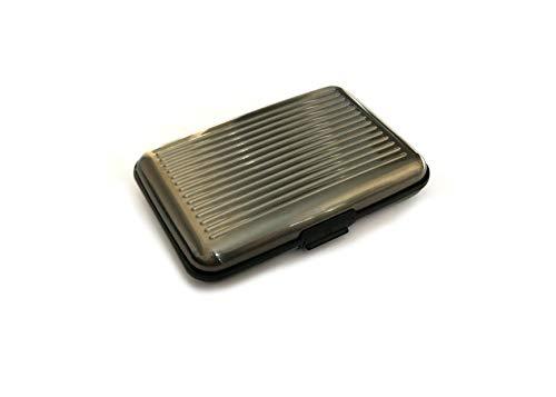 Porta Tessere-Porta Carte di Credito per uomo/donna, Porta Tessere schermato RFID/NFC in Alluminio Premium 10 slot-MattVille porta tessere comodo per business,viaggi,tempo libero. (Grigio Siderale)