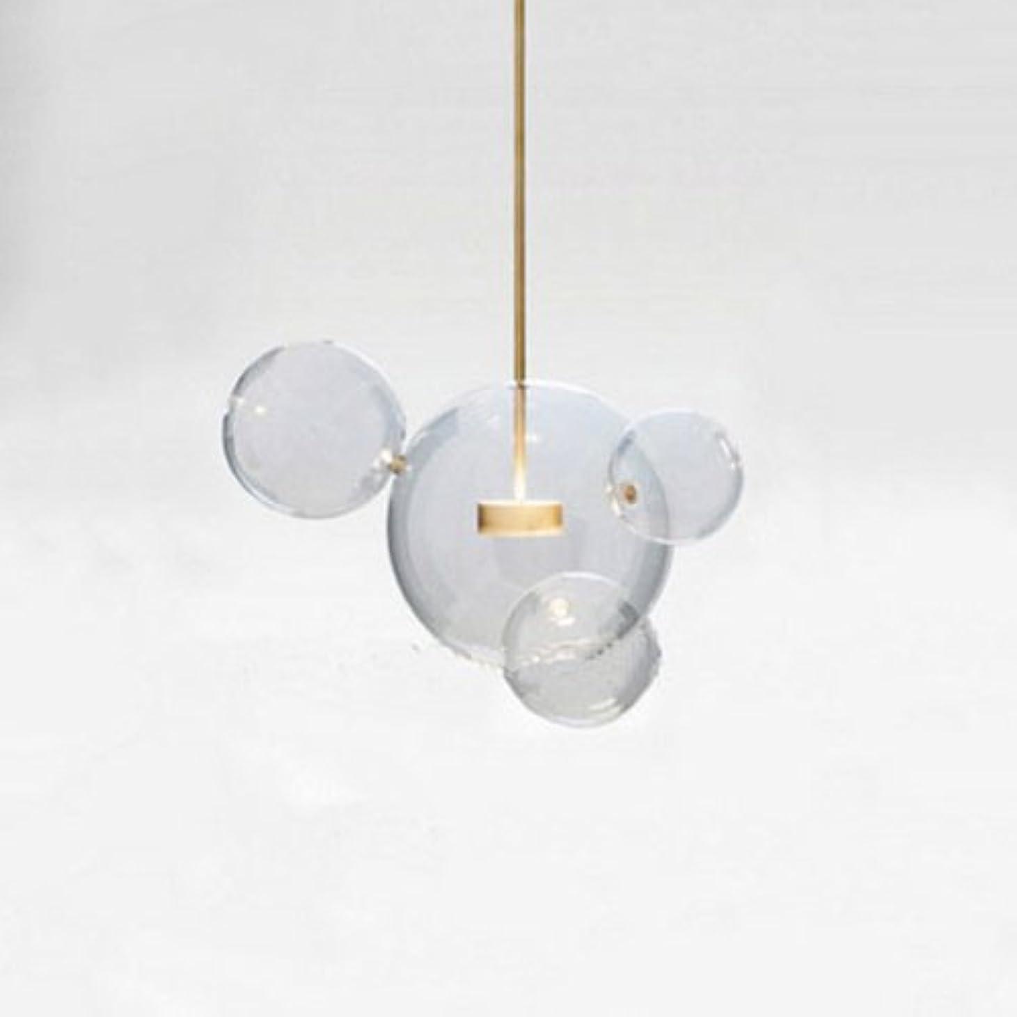 実際の僕の独立Vampsky クリエイティブ北欧透明ガラス石鹸バブル天井ペンダントライトデザイナー装飾ledガラスランタンぶら下げライト現代の要素レストランリビングルームキッチン島シャンデリアランプ (サイズ : 4 Lights)
