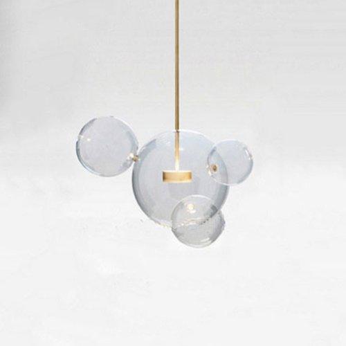 Modeen Kreative Nordic Transparent Glas Seifenblase Deckenpendelleuchten Designer Dekorative LED Moderne Elemente Kücheninsel Kronleuchter Lampe (Größe : 4 Lights)