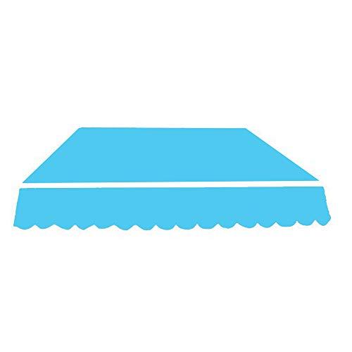 JIEPOLLY Markisenstoff Sonnenschutz Markisentuch 2.5x3m Gelenkarmmarkise Markise Segeltuch, Blau