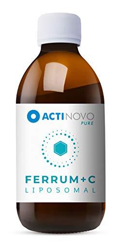 Liposomales Eisen + Vitamin C | Sanddorn PURE 250 ml | hochdosiert | für dein Immunsystem | Tagesdosis 15 mg Eisen | hohe Bioverfügbarkeit | flüssig | ohne Zusätze | vegan