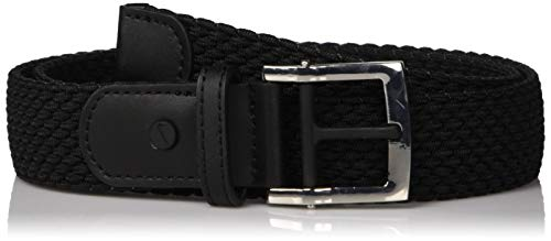 NIKE Women's Stretch Woven Belt, jet black, L Black Leather Woven Belt