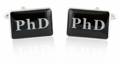 These cuff links make a great gift ideas for a phd graduation.