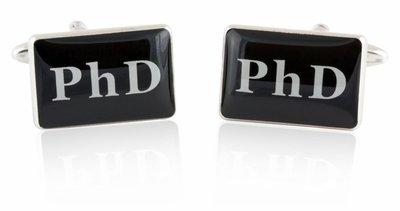 PhD Cufflinks Doctorate Education Degree Celebration Graduation Cuff Links