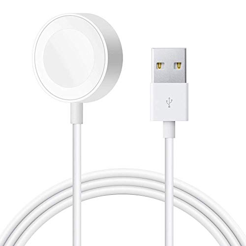 Watch Charger Charging Cable, Magnetic Wireless for Apple Watch Charger Series 5/4/3/2/1 Portable Magnetic USB Charging Stand Cable Cord for All iWatch 38mm 40mm 42mm 44mm - White [2020 Update]