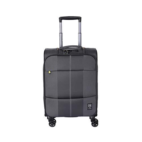 [サンコー] スーツケース 30L 47cm 2.1kg ソフト ファスナー 機内持込可 LCC フィノキシーゼロ チャコールグレー