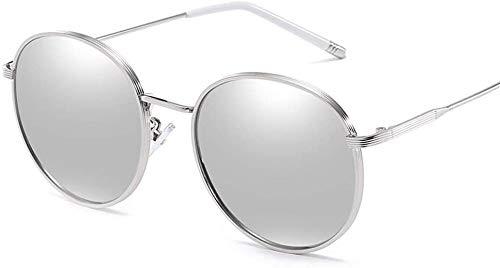 AQWESD Gafas de Sol antideslumbrantes, Sunglass Fashion Retro Polarized Light Womens Female Driving Sunscreen UV400 Metal para Ciclismo, conducción, esquí de Carrera