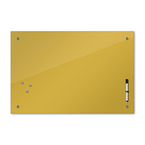 Bilderdepot24 Memoboard 80 x 60 cm, 24 Farben - Gold - Glas - Glasboard - Glastafel - Magnetwand - Pinnwand - Mehrzwecktafel Farbton - Grundfarbe - einfarbige Schreibtafel