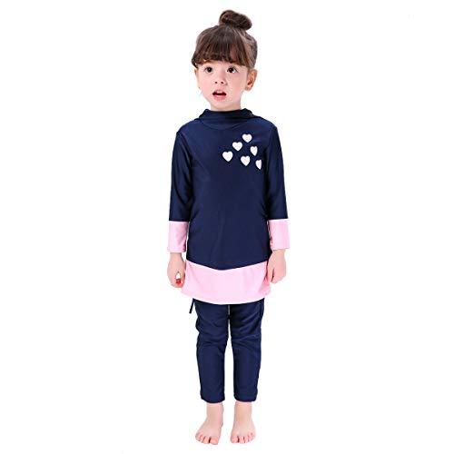 Moslim Badmode Meisjes - Bmeigo UV-zwemkleding voor Kinderen Zon Bescherming Volledige Lange Mouwen Bescheiden Watersport Strandkleding