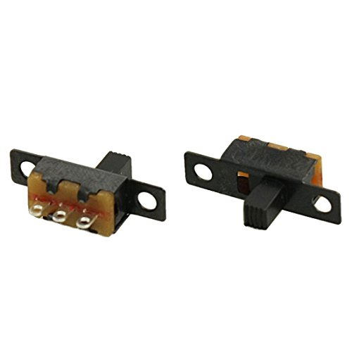 TOOGOO(R) 5 Piezas de 50V 0.5A 3 Pines 2 Posiciones Encendido / Apagado 1P2T SPDT Interruptor deslizante