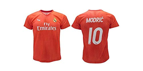 Offizielles Trikot Real Madrid Modric rot Third 2018 2019 in Blisterverpackung (12 Jahre Kinder)