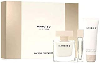 Narciso by Narciso Rodriguez Gift Set for Women - Eau de Parfum, 90 ml - 10 ml - 75 ml, 3 Count