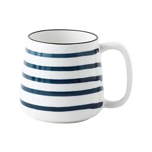 4-Farbige Keramik Handbemalte Wasserschale, Unterglasur Farbe Klein Frisch 500Ml Große Kapazität Frühstückstasse Kaffee Milch Paar Tasse C