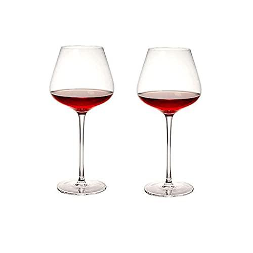 Copas de Vino Tinto Conjunto de Copa de Vino Tinto de 2 Copas de Vino Burgundy Premium Crystal Glass Gran Regalo para Cualquier ocasión