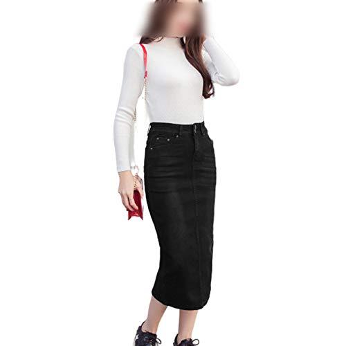 Skirts Nuevo 2020 moda mujeres mujeres mujeres de cintura alta recta Denim Cuerpo Sexy Con Midi Elástica