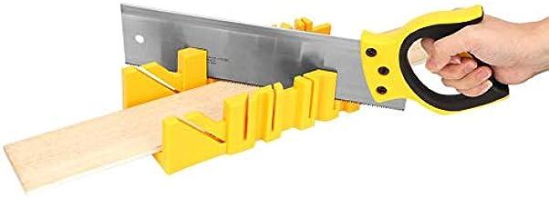 Caja de inglete de sujeción de ángulo múltiple de plástico ABS de 12 pulgadas con herramienta de mano de trabajo de madera de sierra trasera de 14 pulgadas