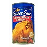 Sweet Sue Canned Whole Chicken without Giblets 50oz Can (Pack of 4)