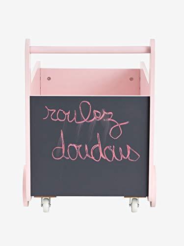 Vertbaudet Fahrbare Spielzeugkiste mit Tafel rosa/Sterne ONE Size