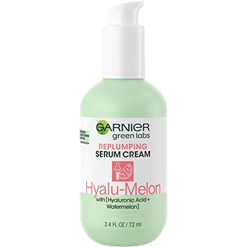 Garnier SkinActive Green Labs Hyalu-Melon Replumping Serum Cream 3-in-1, 24H Moisture + Serum + SPF 30 with Hyaluronic Acid + Watermelon for Dehydrated Skin, Fine Lines, 2.4 Fl Oz (Packaging May Vary)